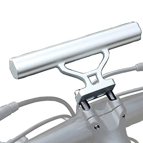 WHCL Bike Handlebar Extender Aluminum Alloy Bicycle Handlebar Extension Bracket Bicycle Stem Tube Extension Space Saver for All BicyclesSilver