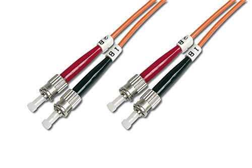 DIGITUS LWL patchkabel OM1-7 m ST naar ST glasvezel kabel - LSZH - duplex multimode 50/125μ - 10 GBit/s - oranje