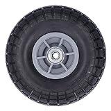 YJZO Neumático para Uso General Neumático para Uso General, sin pinchazos, para Todo Uso, sin cámara, para camión de Mano, Cubo de plástico, 250 KPa, 15 mm de diámetro del Orificio, 3,50-4