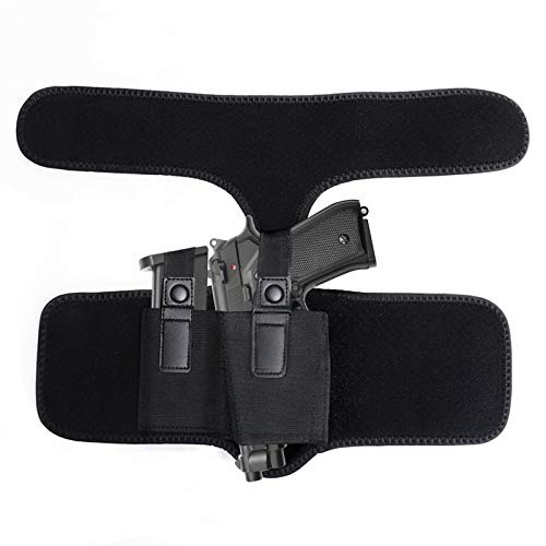 Elitezip Drop Leg Holster, Tactical Leg Holster with Calf Strap and Spare Magazine Pouch