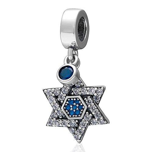 Swarovski Crystal Star Sterling zilveren bedeltje - Sparkly Europese stijl kraal voor bedelarmbanden