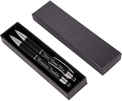 Personalized Pens Gift Set - 2 Pack of Metal Pens w/gift box - Luxury...