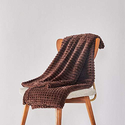 Manta Sofa De Pelo Franela Manta Lisa de Entramado pequeño Manta para el Almuerzo de Oficina Manta para sofá Cama de Lujo Suave-GRAMO_Los 275x230cm