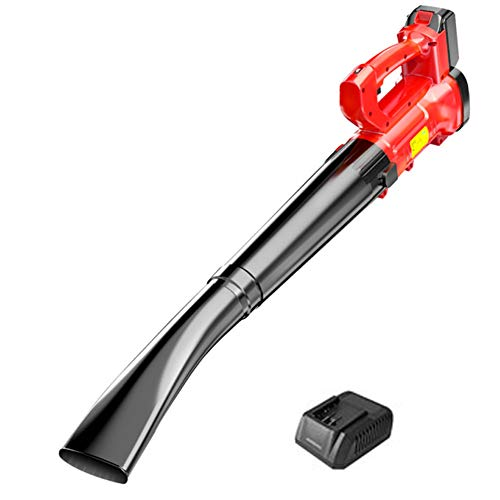 JYING Cordless Leaf Blower,Lightweight Outdoor Electric Garden Blower,with 21V/2.0Ah Lithium Battery and Charger,6-Speed Variable