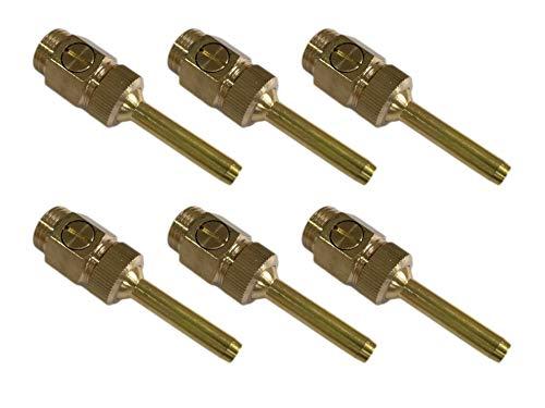 Actopus 6pcs 1/2 Inch Fountain Nozzle Brass Adjustable Spray Head Straight DN15