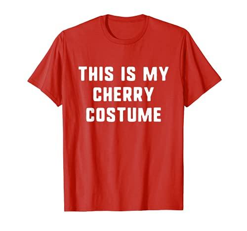 Este es mi disfraz de cerezo Halloween fcil perezoso Camiseta