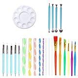 YANGMAN-C Mandala Rock Dotting Tools, 24 Piezas Mandala Dot Art Tools Set Que Incluye Varillas De Acrílico, Bandeja De Pintura para Pintar Rocas, Manualidades para Niños, Arte De Uñas