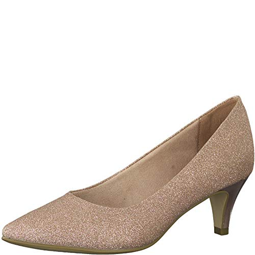 Tamaris Damen Pumps 22415-24, Frauen KlassischePumps, Ladies feminin elegant Women's Woman Abend Feier Court-Shoes,Rose Glam,41 EU / 7.5 UK