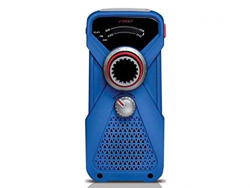 Soulra FRX1 AM/FM/KW Radio (Analogtuner, LED-Taschenlampe, Ladekurbel, USB-Ladeausgang) blau
