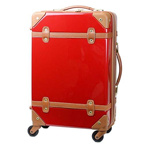 MOIERG(モアエルグ) キャリーバッグ YKK使用 軽量 かわいい スーツケース (S, レッド)[71-80008-30]