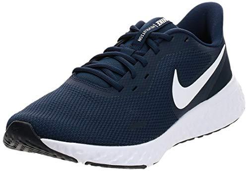 Nike Revolution 5, Zapatilla de Correr para Hombre, Platino Blanco/Lobo Gris Pursho, 42 EU