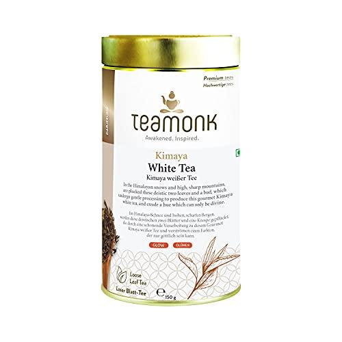 Teamonk Kimaya Tè Bianco Himalayano Imperiale In Foglie Sfuse (75 Tazze)  Tè 100% Naturale  Potente Antiossidante Foglie Di Tè  Tè Per Il Relax - 150G