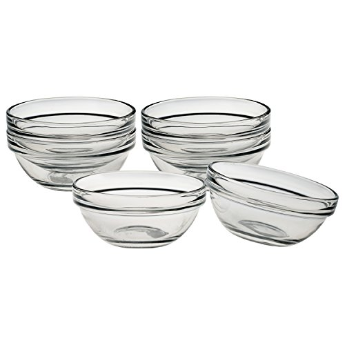 Luminarc Stackable 3-1/2 Inch Pinch Glass Bowl, Set of 6