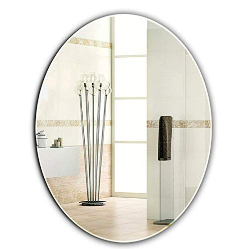QTMHT Cosmetische Spiegel Wandmontage Ovale Spiegels Muur Zelfklevende Make-up Spiegel, voor Vanity Badkamer of Slaapkamer 45 * 60CM