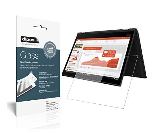 dipos I Protector de pantalla transparente compatible con Lenovo Yoga X390 de 13,3 pulgadas, protector de pantalla 9H