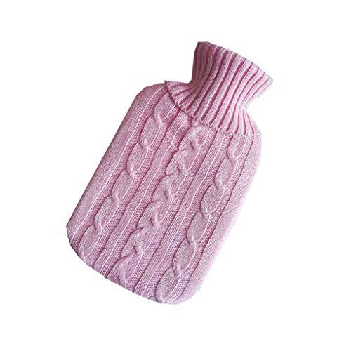 Mingtongli Tragbare 2000ml Wärmflaschen Gestrickte Winter-warme Handwärmer-Wasser-Beutel Strickkleidung