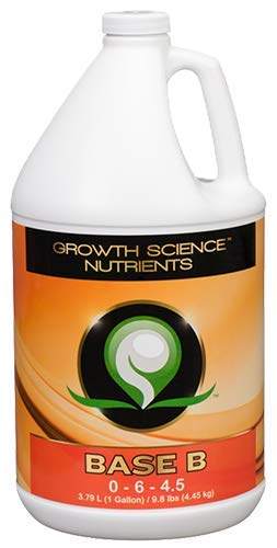 Growth Science Nutrients - Base B (0-6-4.5) : Base Nutrients (Gallon)
