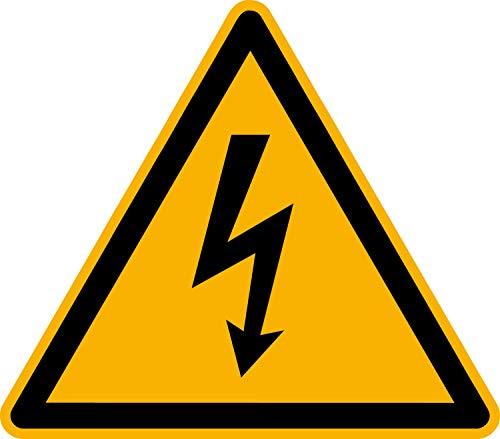 Aufkleber Warnung vor elektrischer Spannung 12 Stück 50mm W012