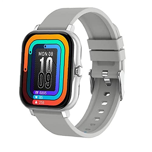 SmartWatch Bluetooth Llamada de Bluetooth Smart Band Corazón Presión Arterial Deportes Fitness Tracker para Mujeres Hombres Gris para niños Mujeres Hombres