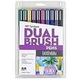 Tombow 56218 Dual Brush Pen Art Markers, Bohemian, 10-Pack. Blendable, Brush and Fine Tip Markers bold pens Mar, 2021