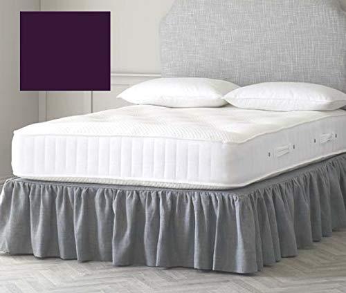 Euro IKEA - Sábana bajera para cama doble (139,7 x 198,1 cm), color negro