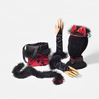 Department 56 Halloween Black and Red Cat Costume (5-Piece Set)