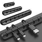 hellomagic 3 Pack Desktop Kabelhalter 15 Kanal Kabel Management System Kabel Clip Kabelmanager für...