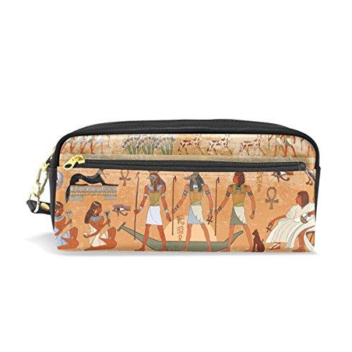 coosun antiguo Egipto escena estudiantes estuche de piel sintética gran capacidad Escuela Pluma bolso de la bolsa Papelería Caso Maquillaje bolsa de cosméticos