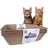 KittyDoo Katzenklo, Praktische und Zuverlässige Katzentoilette aus Karton - Kratzfest, Wasserdicht, Hygienisch, Geruchsarm, Atmungsaktiv, Recyclebar - (3er-Pack)
