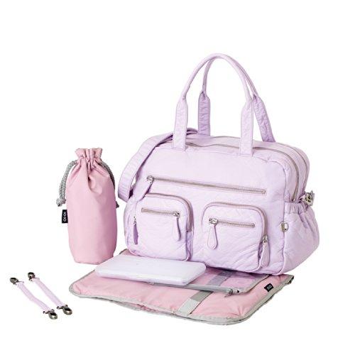 OiOi Faux Lizard Carryall Diaper Bag, Lilac Orchid