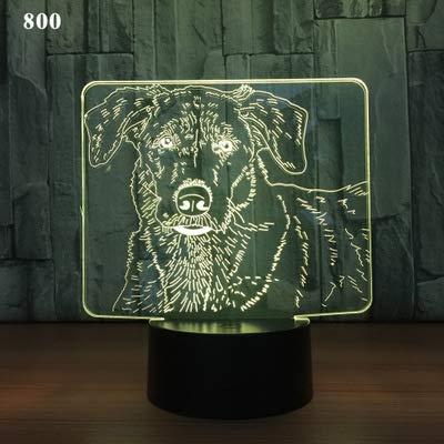Luz de noche de 3DSerie animal Lámpara de ilusión 3D Multicolor con control remoto para sala de estar Bar Habitación Juguetes de regalo Regalo perfectos para niño