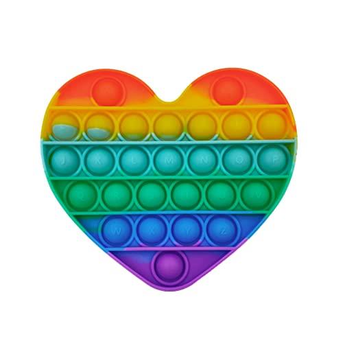 GreenBee Push Pop Bubble Fidget Toy (Arcoíris Corazón)