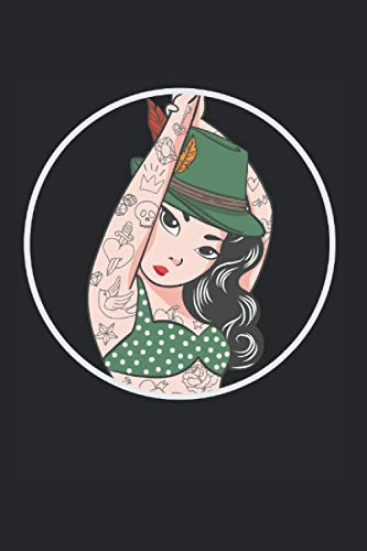 Kalender 2021: Bayrisches Wiesn Madel Tattoo Tracht Sexy Geschenk 120 Seiten, 6X9 (Ca. A5), Jahres-, Monats-, Wochen- & Tages-Planer