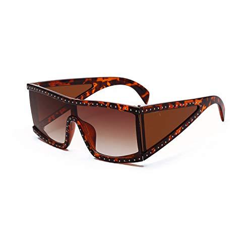 Quadratische große Rahmen genietet Sonnenbrille Gläser Männer Straße Selfie Sonnenbrille 138 * 135mm Tee