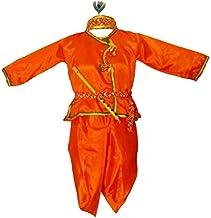 My Lil Princess Baby Girls Birthday Frock Dress_Krishna Orange_0-5 Years