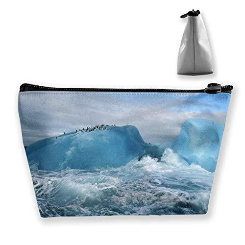 Cute Receive Bag Penguin on The Iceberg Travel Storage Bag