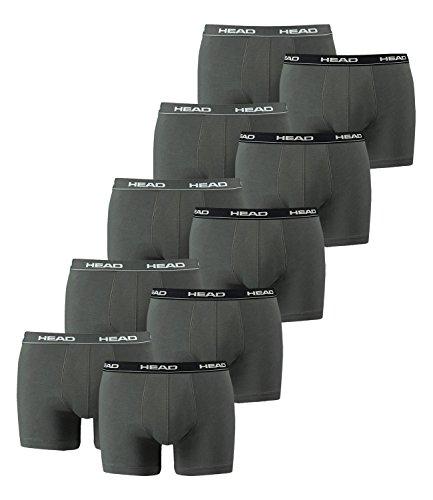 10er Pack Head Herren-Boxershorts mit elastischem Bund, Konfektionsgröße: XL, Farben: 415 - Weiß/Schwarz/Grau