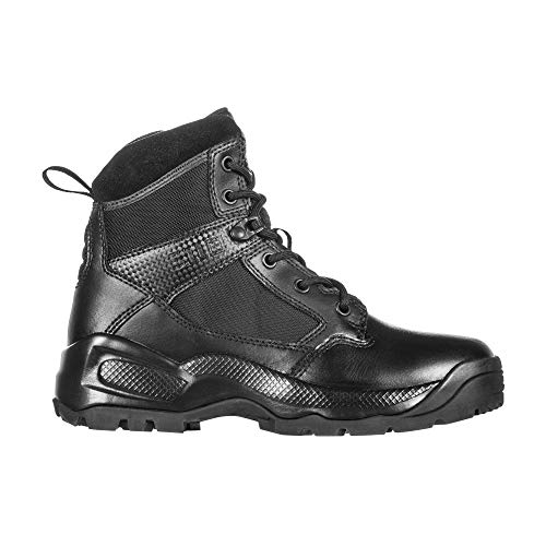 5.11 Women's ATAC 2.0 6' Tactical Side Zip Military Combat Boot, Style 12404, Black, 7.5 (M) US