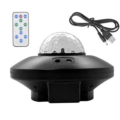 Odoukey Led proyector de Estrellas del Cielo la Noche del proyector de luz de la lámpara Galaxy con Bluetooth Remote Control Agua de la Llama para Interior