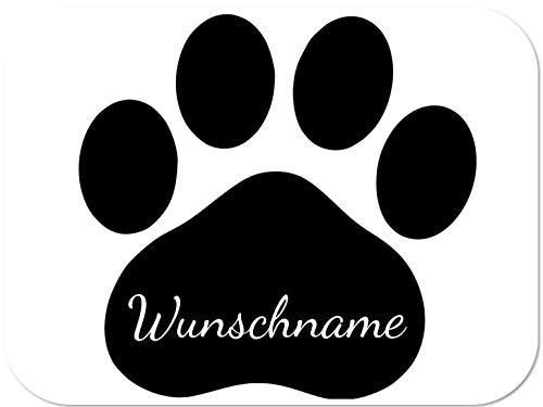 Paw Companion Premium Aufkleber Auto Deko Hund Katze, Pfote mit Wunschtext, personalisierbar, 15x15 cm