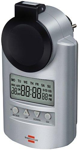 Brennenstuhl Primera-Line Zeitschaltuhr DT IP44, digitale Timer-Steckdose (Wochen-Zeitschaltuhr, IP44 Schutz & erhöhter Berührungsschutz)