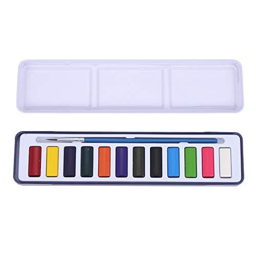 Fransande - Pigmento para acuarela slido de 18 colores para principiantes, conjunto de pigmentos adecuado para el esquema, apto para acuarela para la creacin de nios
