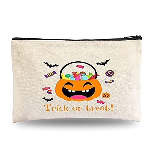 Yingyang Bolsa de cosméticos Punk Skull Print Pattern Canvas Pencil Bag Bolsa de cosméticos Almacenamiento Organizar Viajes Bolsa de maquillaje Bolsa de lavado (Color: H03, Tamaño: 21 x 13 cm)