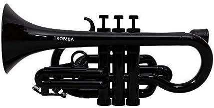 Tromba Pro Professional Plastic Bb Cornet, Black