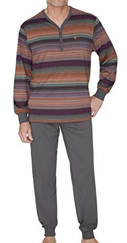 hajo Herren Schlafanzug zweiteilig - Klima Komfort - mit Rundhalsausschnitt, graukombi (197), 50 (M)