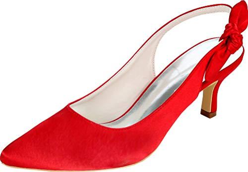 Señoras señoras punta Slingback D-Orsay vestido de boda OL novia corte zapatos...