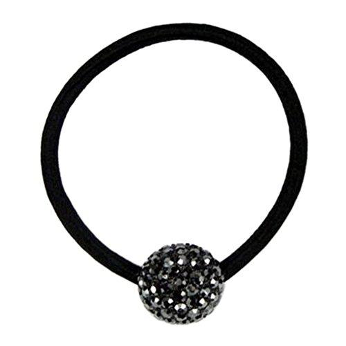 Stylish Ladies Headdress Elastics Cravates pour cheveux Boucle de cheveux Boule de cristal Nior
