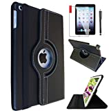 IPad 6th/ 5th Generation Case IPad Model A1893 A1954 Case for iPad 9.7 Inch 2017/2018 360 Degree Rotating Cover Case with Wake/Sleep Function Black