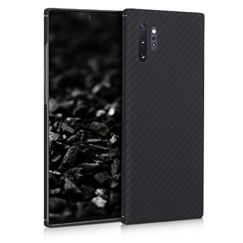 kalibri Hülle kompatibel mit Samsung Galaxy Note 10 Plus - Aramid Handy Schutzhülle - Cover Case Handyhülle Schwarz matt