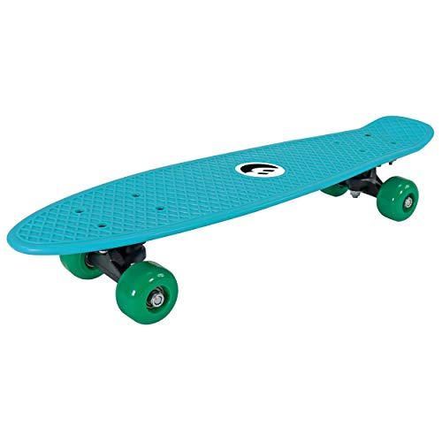 Best Sporting Retro Skateboard für Kinder, ABEC 5 Kugellager, Vintage-Look (blau)